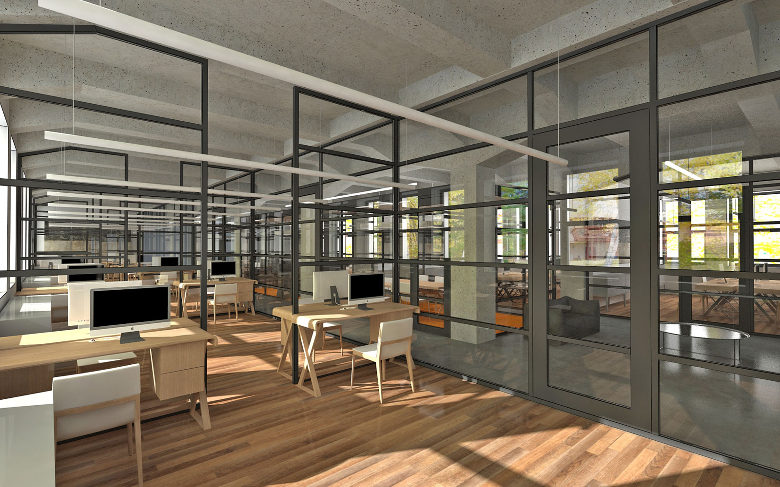 Modernism Style Interior Proposal For Office Building